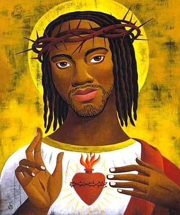black-jesus-sacred-heart-velvet-painting